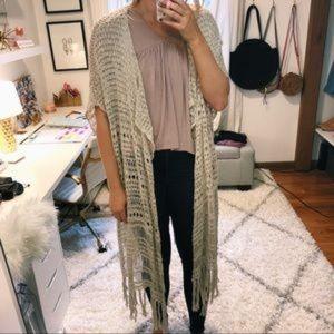 Abercrombie & Fitch | Crochet Fringe Kimono Duster